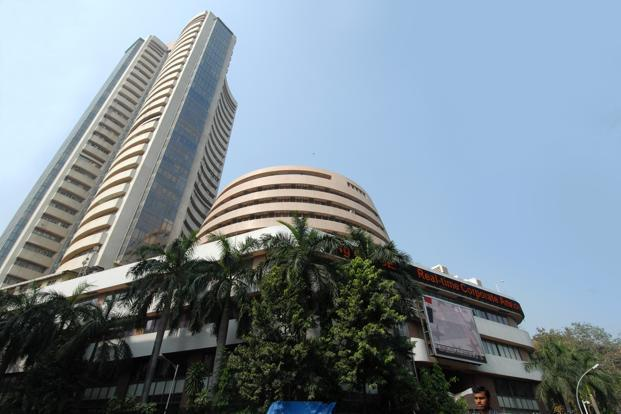 A file photo of BSE building. Stocks of lenders saw a decline as recent steep gains on rate-cut hopes were seen as overdone ahead of the central bank's annual policy review next week. Photo: Hemant Mishra/Mint