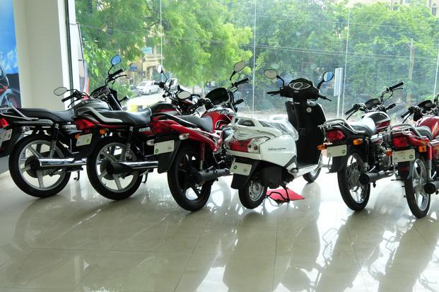 A longer replacement cycle of nearly 7-10 years also pulls down two-wheeler sales growth rates after basic penetration levels are attained. Photo: Ramesh Pathania/Mint