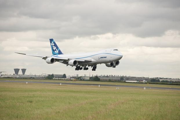 A file photo of Boeing 747-8 aircraft.