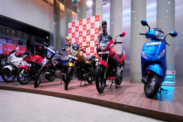 This is the third quarterly profit drop in a row for Hero after it reported declines of 27% and 20% in the September and December quarters, respectively. Photo: Ramesh Pathania/Mint