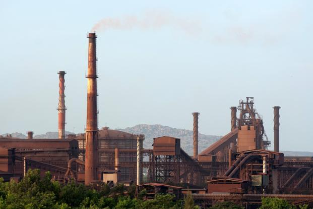 Hit by rising interest burden and lower sales realizations, Jindal Steel's consolidated net profit fell by nearly 35% to `760.27 crore for the quarter ended March 2013. Photo: Aniruddha Chowdhury/Mint