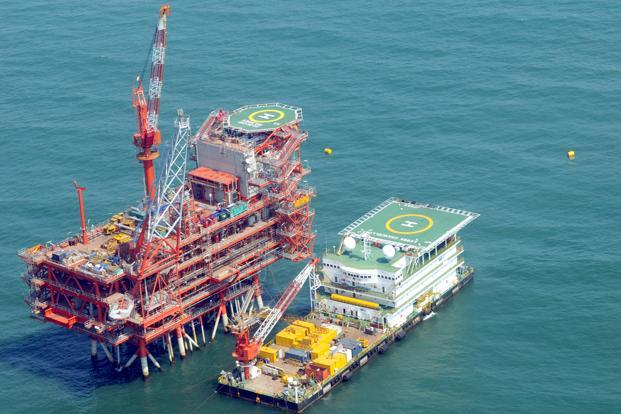 A file photo of an RIL control and raiser platform in the KG basin.