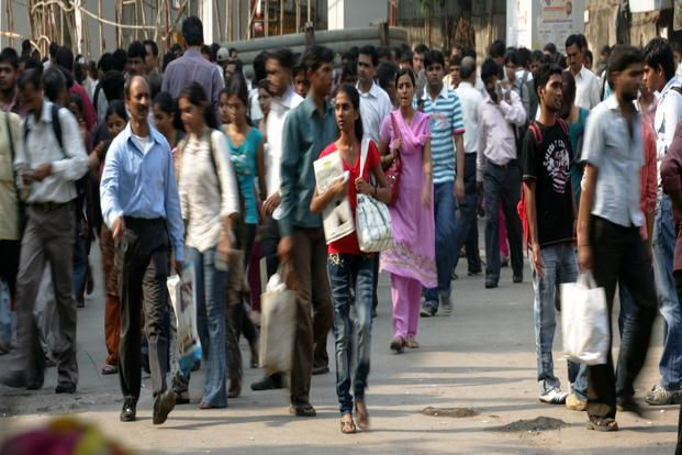 India's population grew by 17.7% during 2001-11, against 21.5% in the previous decade. Photo: Hindustan Times