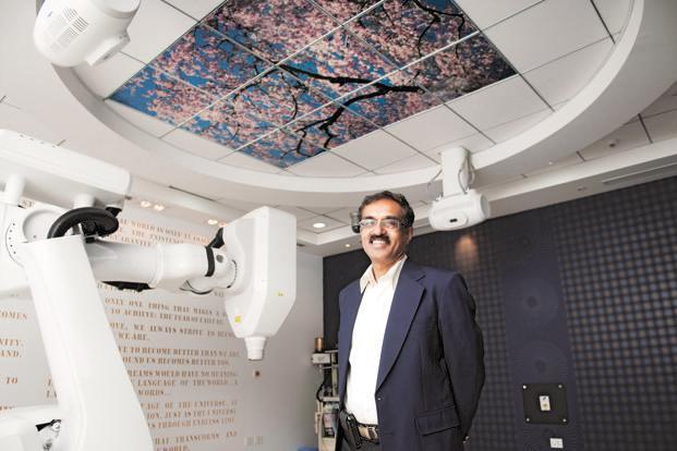 HCG founder and chairman B.S. Ajaikumar. Photo: Aniruddha Chowdhury/Mint (Aniruddha Chowdhury/Mint)