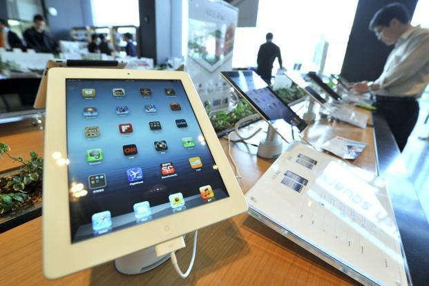 Tablet shipments reached 49.2 million units in the January-March period, 142.4% more than in the same quarter in 2012, market research firm IDC said on Wednesday. Apple's iPads accounted for 19.5 million units, an increase of 65.3%. Photo: AFP