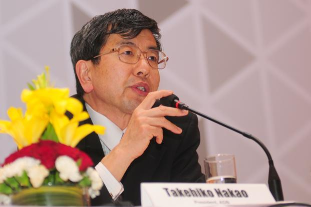 On the proposed setting up of a BRICS bank, Nakao said setting up a new bank will be challenging. Photo: Ramesh Pathania/Mint
