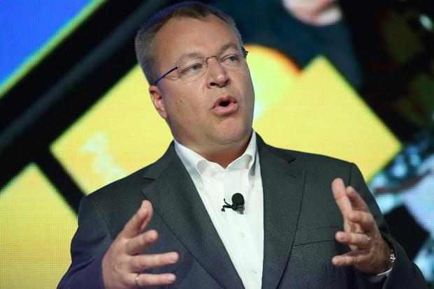 A file photo of Nokia chief executive Stephen Elop. Nokia sold 5.6 million units of Lumia handsets in the first quarter. Photo: Getty Images/AFP
