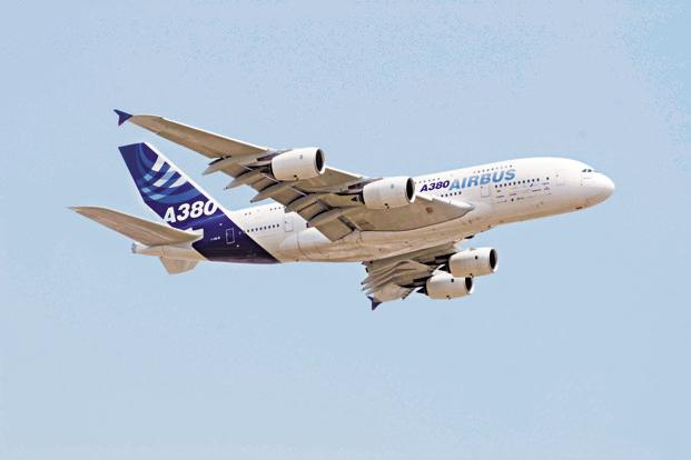 So far, the Airbus A380 has been barred from flying commercially in India because it may stretch the existing infrastructure at Indian airports and undermine local airlines. Photo: Mint