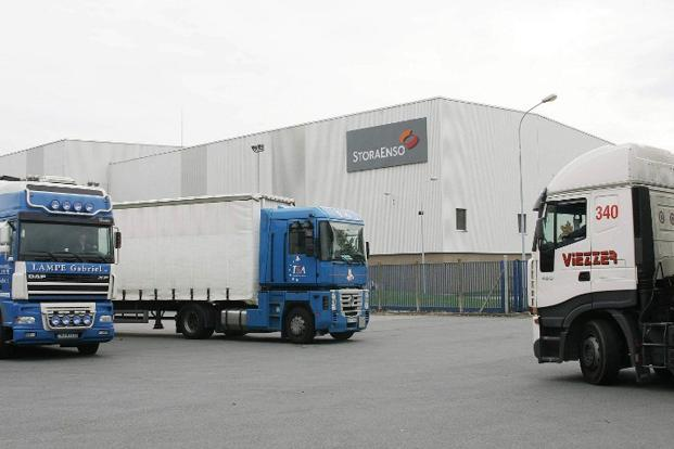 Industry heavyweight, Stora Enso, in February lowered its capacity for newsprint paper to 475,000 tonnes, resulting in the shutdown of two facilities in Sweden. Photo: Francois Lo Presti/AFP  (Francois Lo Presti/AFP )
