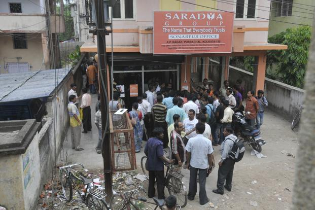 A file photo of Saradha agents outside the group's offices in Kolkata. Photo: Indranil Bhoumik/Mint (Indranil Bhoumik/Mint)