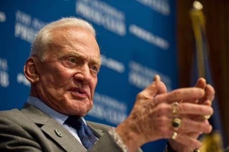 A file photo of Buzz Aldrin. Photo: Nicholas Kamm/AFP  (Nicholas Kamm/AFP )