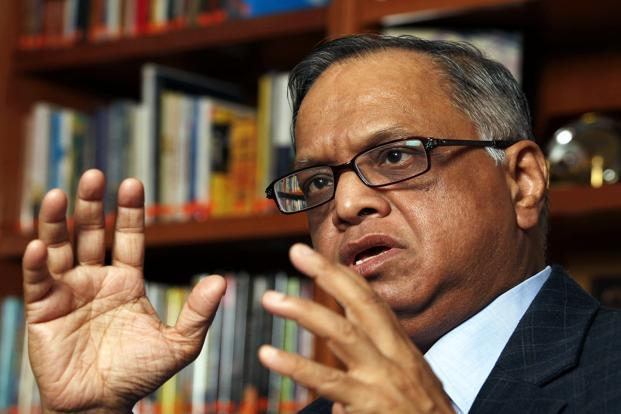 A file photo of N.R. Narayana Murthy. Photo: Bloomberg