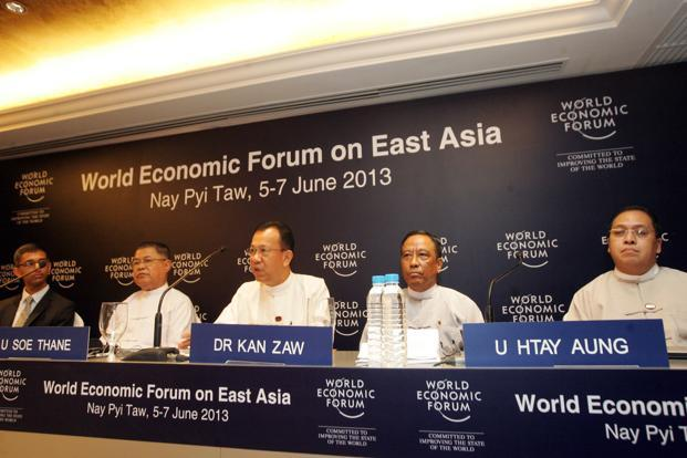 The World Economic Forum forum on East Asia, to be held later this week in Naypyidaw, is the formal signal from the business community that Myanmar has emerged as the new centre of the world. Photo: Khin Maung Win/AP (Khin Maung Win/AP)