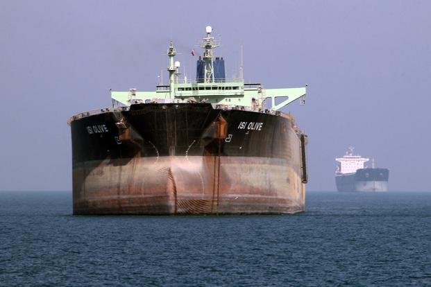 An oil tanker off the coast of southern Iran. Sanctions have made it difficult to make payments for Iranian oil and getting insurance for ships moving cargo to and from Iranian shores. Photo: Atta Kenare/AFP (Atta Kenare/AFP)