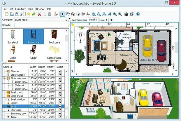 Download central sweet home 3d portable livemint for Logiciel plan maison sweet home 3d