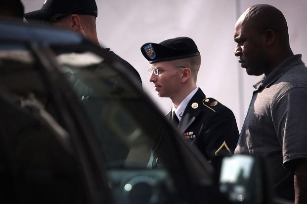 Bradley Manning, a former intelligence analyst, faces a possible life sentence without parole if convicted at his court-martial in Fort Meade, Maryland, for leaking more than 700,000 secret documents in 2010. Photo: AFP