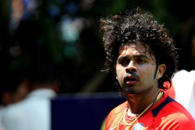A file photo of S. Sreesanth. Out of 26 accused, IPL player Ankeet Chavan and Sreesanth's friend Abhishek Shukla are out on bail and co-accused Ashwani Aggarwal has been sent to Mumbai on a production warrant issued by a court there. Photo: Hindustan Times