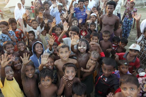 A file photo of Muslims refugee children at a refugee camp in Sittwe, Rakhine State, Myanmar. Anti-Muslim violence in Buddhist-dominated Myanmar erupted in the state last year. Photo: AP