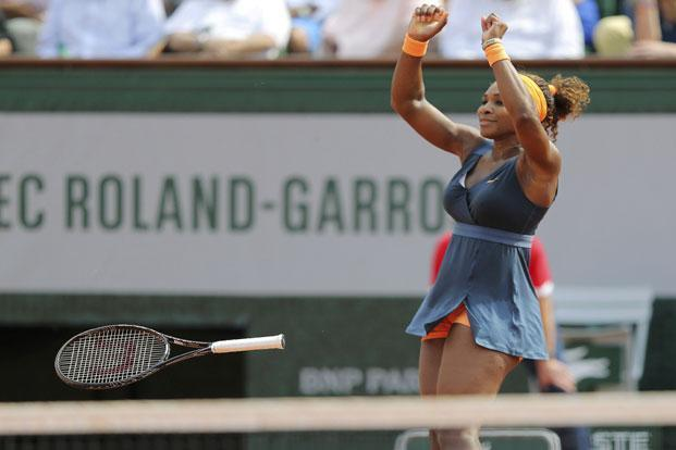 Serena Williams celebrates defeating Maria Sharapova of Russia in their women's singles final match to win the French Open tennis tournament at the Roland Garros stadium in Paris. Photo: Stephane Mahe/Reuters (Stephane Mahe/Reuters)