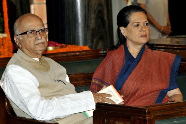 9 May 2011: UPA Chairperson Sonia Gandhi with Advani in New Delhi. Starting life as a film critic, Advani jumped into politics early joining the RSS in the 1940s and rapidly rising to the forefront of the Jan Sangh movement. HT