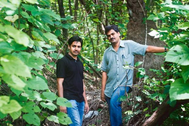 H.S. Sudhira (left) and K.V. Gururaja say the combined expertise of the scientists is what makes Gubbi Labs work. Photo: Aniruddha Chowdhury/Mint