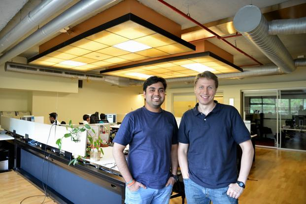 Microsoft Research India's Aditya Vashistha (left) and Bill Thies are co-developers of IVR Junction. Photo: Hemant Mishra/Mint (Hemant Mishra/Mint)