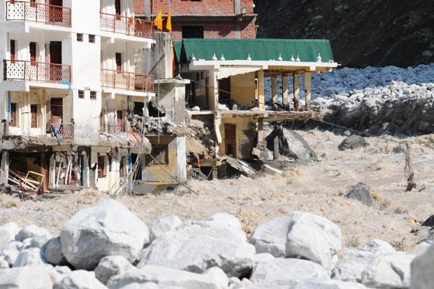 Hundreds of buildings along rivers were washed away or destroyed, including this gurudwara at Govindghat, on the pilgrim route to Hemkund Sahib. Photo: Ramesh Pathania/Mint