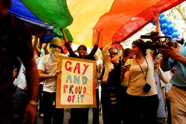 A file photo of a gay parade in New Delhi. The battle for the acceptance of gay rights in India is a long one; it is time for India to leave the prejudice in the 19th century where it belongs, and join the 21st. Photo: Mint (Mint)