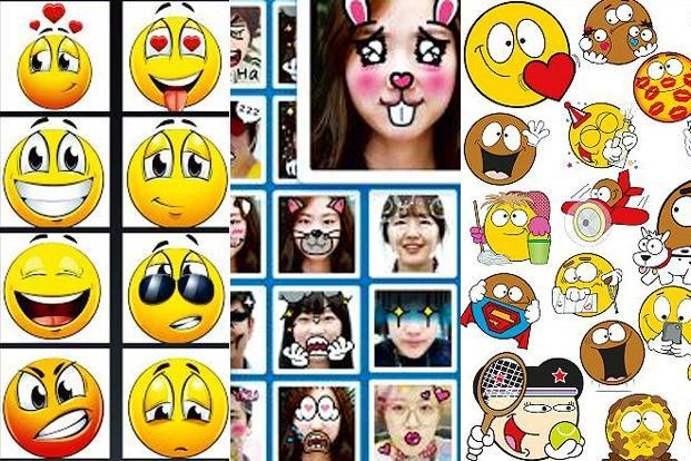 (From left) Smileys for Chat (memes, emoji), MySticker and Emojidom