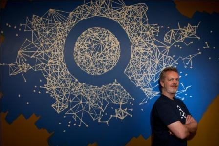Lars Rasmussen, a member of the team, which developed Facebook's Graph Search. Photo: Peter DaSilva/The New York Times