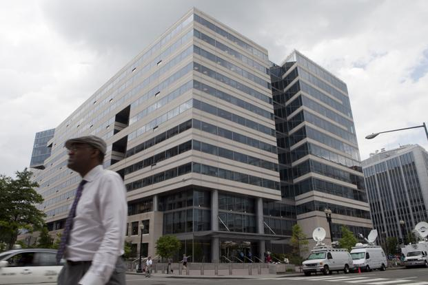 The headquarters of the IMF in Washington D.C. Photo: Bloomberg