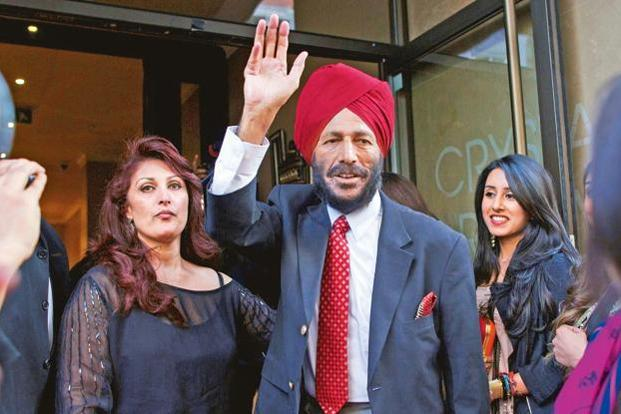 Former Indian sprinter Milkha Singh. Photo: Andrew Cowie/AFP