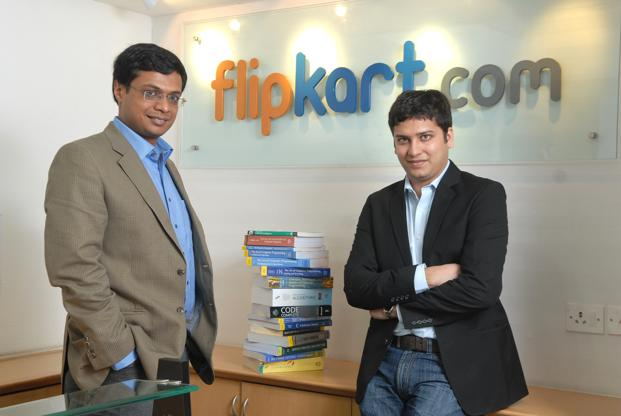 Flipkart's founders Sachin Basal (left) and Binny Bansal. On Wednesday, Flipkart announced that it had raised $200 million from its existing investors Tiger Global Management, Accel Partners, Iconiq Capital, and South Africa's Naspers Group. Photo: Hemant Mishra/Mint (Hemant Mishra/Mint)