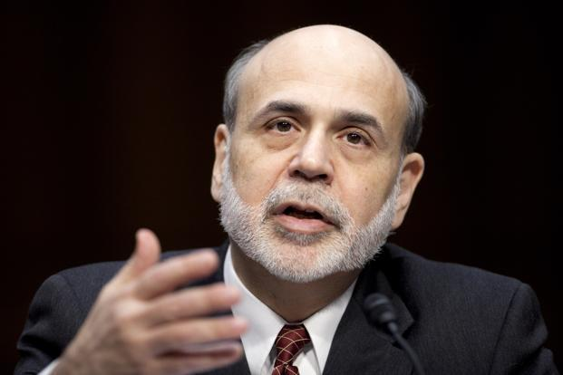 The debate over QE underscores Bernanke's challenge in affirming that, even after starting to reduce monthly bond buying, policymakers plan to maintain unprecedented stimulus with a record- high balance sheet and near-zero target interest rate. Photo: Bloomberg
