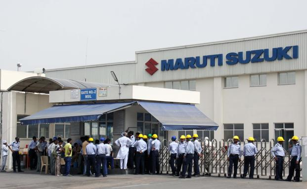 Sales at Maruti, India's biggest auto maker, fell in four of the six months through June and steel demand in the world's third largest user of the alloy rose in the April-June period at the slowest pace in at least five years, official data show. Photo: Hindustan Times