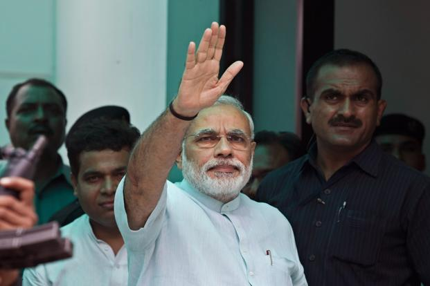 A file photo of Gujarat chief minister Narendra Modi. Photo: AP
