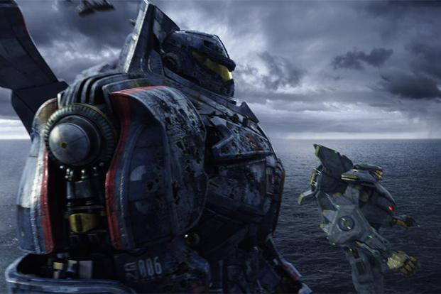 A fighting force of robots called the Jaeger from 'Pacific Rim'