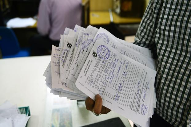 A photo of filled up telegram forms. Photo: Ramesh Pathania/Mint