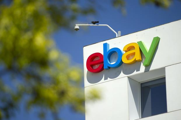 Ebay's second-quarter net income was $822 million, or 63 cents a share, versus $730 million, or 56 cents a share, in the same period a year earlier. Photo: Bloomberg