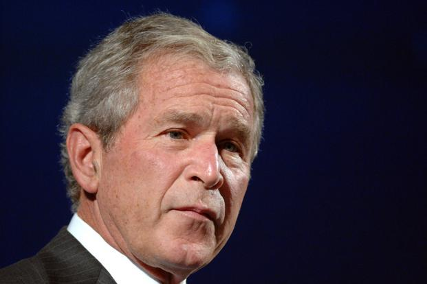 A file photo of former US President George W. Bush. Photo: Bloomberg