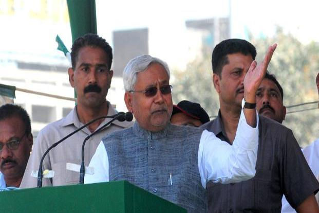 A file photo of Bihar chief minister Nitish Kumar at a rally in New Delhi. Photo: Ramesh Pathania/Mint