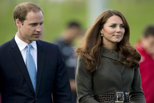 A file photo of Prince William (left) and his wife Catherine, the Duchess of Cambridge. Photo: AFP