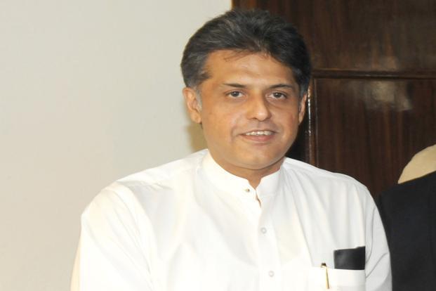 A file photo of I&B minister Manish Tewari. Photo: PIB