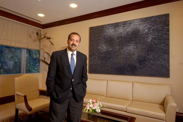 A file photo of Kohlberg Kravis Roberts India CEO Sanjay Nayar. KKR started its India non-banking financial company—KKR India Financial Services—four years ago and has so far funded close to 30 companies, lending roughly `8,000 crore. Photo: Hemant Mishra/Mint.
