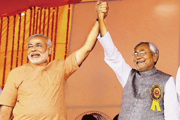Gujarat chief minister Narendra Modi (left) and Bihar chief minister Nitish Kumar. Photo: PTI