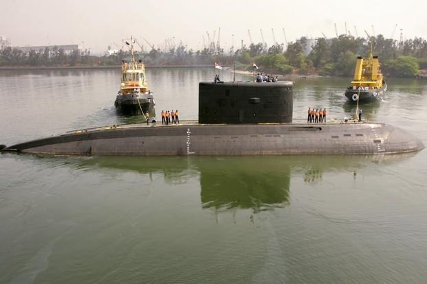 A 13 February 2006 file photo of Sindhurakshak. In May 2013, INS Sindhurakshak ran into rough weather near Egypt and was towed by the Egyptian Navy to its dockyard for repairs. Reuters