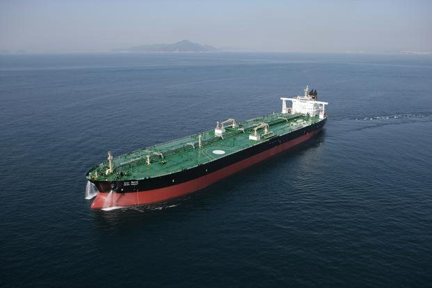 A file photo of an oil tanker owned by the Shipping Corp of India.
