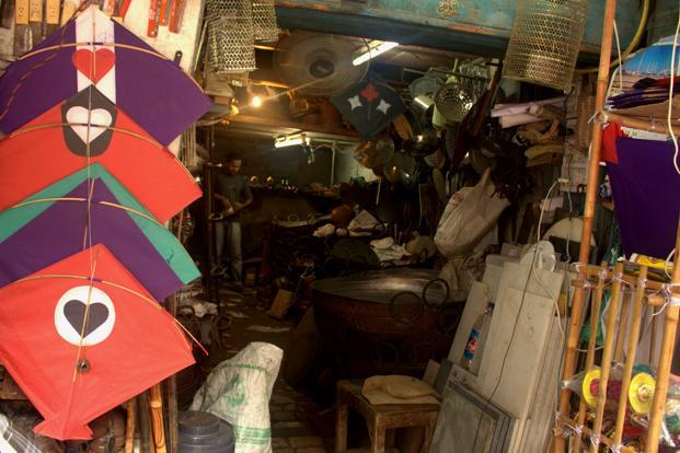 Independence Day is one of the busiest time for Delhi's kite sellers. Many shops in Old Delhi's Lal Kuan which sell metal utensils during the rest of the year, turn into make-shift kite shops on 14th and 15th August.