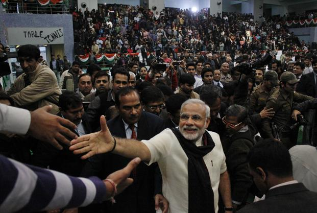 Narendra Modi is giving no quarter to his worst critics. Maybe he believes that is the way to go. Photo: HT