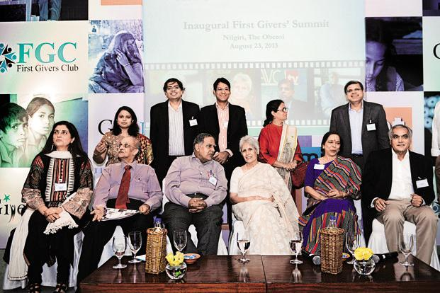 Participants at the First Givers Club summit in New Delhi organized by the online philanthropic donation forum GiveIndia. (Participants at the First Givers Club summit in New Delhi organized by the online philanthropic donation forum GiveIndia.)